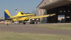 Parking in the Hangar Stock Footage