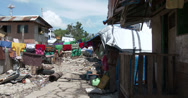 Stock Video Footage of 4K Bright Laundry In Shanty Slum Housing Philippines
