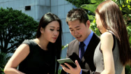 Stock Video Footage of Good News Via Tablet Hot Spot Young Ethnic Business Team