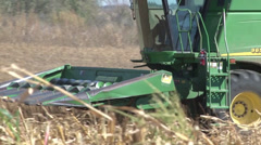 Corn Harvest Combine Stock Footage