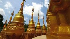 Pagoda in Wat-Sawangboon Stock Footage