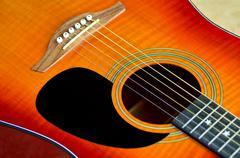 Folk acoustic guitar Stock Photos