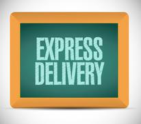 Stock Illustration of express delivery message on a board. illustration