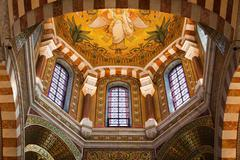 Cathedral Notre Dame de la Garde in Marseille, France Stock Photos