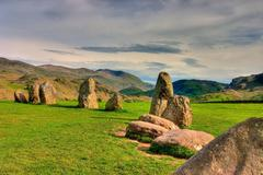 Stones Circle - stock photo