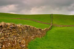 Dry stones wall - stock photo