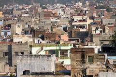 homes in jaipur - stock photo