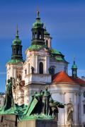 Stock Photo of Detail of Baroque St. Nicholas' Cathedral