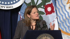 NYC council political speaker public figure Viverito Stock Footage