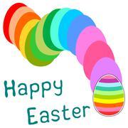 Happy Easter - stock illustration