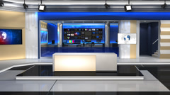 News studio 101C1(push) - stock footage