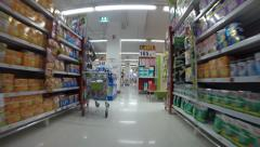 """Rayong province , Thailand - March 14 - Consumers purchase at """"Big C"""" supermarke Stock Footage"""