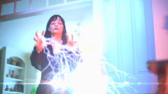 Electric fingers Stock Footage
