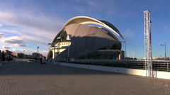 The City of Arts and Sciences,El Palau de les Arts Reina Sofía. Stock Footage