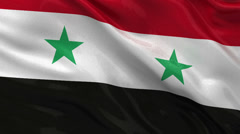 Flag of Syria - seamless loop Stock Footage