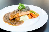 Stock Photo of salmon steak