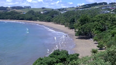 Landscape View of Coopers Beach in Northland, New Zealand Stock Footage