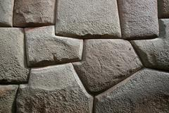 inca wall - stock photo