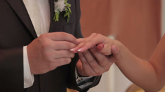 Exchange Wedding Rings Stock Footage