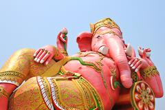 the biggest ganesha statue in temple,thailand. - stock photo