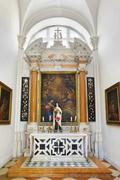 Church interior at Dubrovnik in Croatia - stock photo