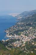 Recco, aerial view, Italy Stock Photos