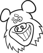 Stock Illustration of funny bear for coloring book