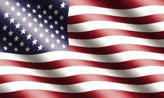American lippu heiluttaa Piirros