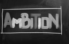 Stock Photo of ambition concept