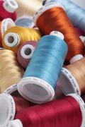 sewing threads - stock photo