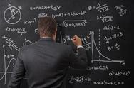 Stock Illustration of calculations on the board