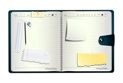 Open organizer - stock illustration