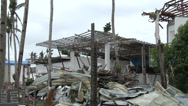 Stock Video Footage of HD Hurricane Devastated Resort Typhoon Haiyan