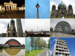 Berlin collage - stock photo