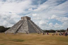 kukulkan pyramid - stock photo