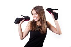 Stock Photo of pretty woman dancing