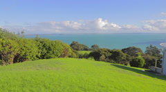 Great view from a high hill on Waiheke Island Stock Footage
