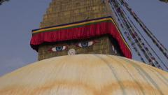 Oldest and biggest buddhist  Boudhanath Stupa in Kathmandu, Nepal Stock Footage