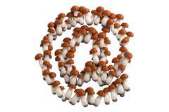 Stock Illustration of Boletus mushroom symbol on white background