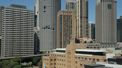 Stock Video Footage of sydney skyline financial district high rise buildings