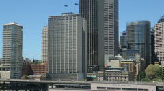 sydney skyline financial district high rise buildings - stock footage