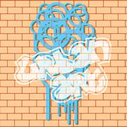 Urban Graffiti Stock Illustration