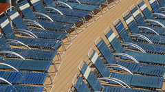 Cruise ship deck and loungers Stock Footage