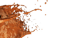 Caramel splash in slow motion, alpha channel included (FULL HD) Stock Footage