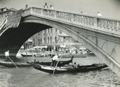 Venice gondolas, 1960s Stock Photos