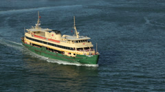 Close up of manly ferry, sydney, australia Stock Footage