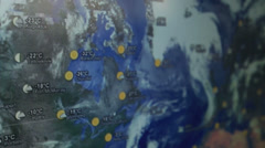 Google Weather Map - stock footage