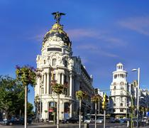 metropolis building, madrid - stock photo