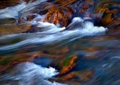 flow white water - stock photo