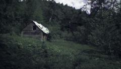 Haunted house in the middle of the forest. Stock Footage